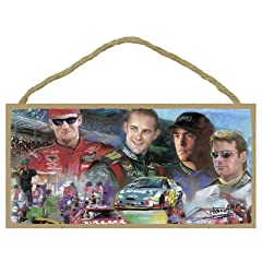 Nascar - the Dream Team 5 X 10 Wood Plaque-sign by SJT
