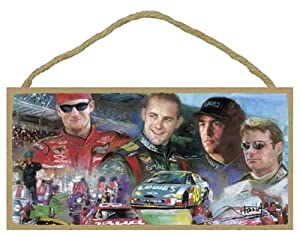 Nascar Dream Team Wooden Hanging Plaque by SJT