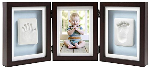 Pearhead Babyprints Deluxe Desk Frame Material for Making Your Baby's Print, Espresso
