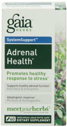 Adrenal Health Daily Support Gaia Herbs 60 VCaps