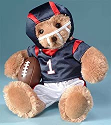 "RUSS 12"" Beary Special Teddies ""Tackles"" Football Teddy Bear #29904"