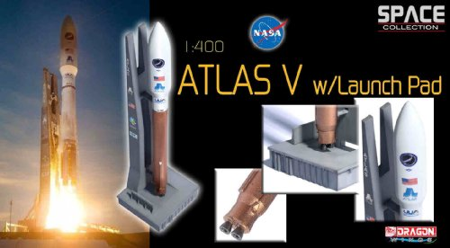 Dragon Models 1/400 Atlas V Rocket with Launch Pad