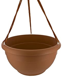 Apollo Plastics H012-TERRA 12-Inch Self-Watering Hanging Planter, Terra Cotta
