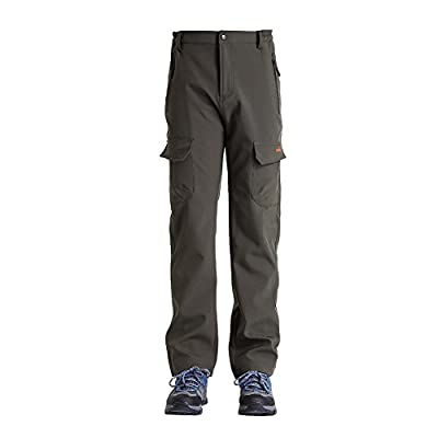 Clothin Mens Ski Pants - Snow Pants/ Fleece Lined/ Water-repellent