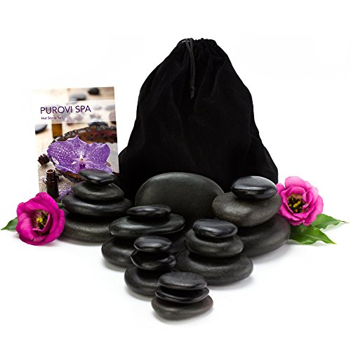 Purovi-Spa-Hot-Stone-Massage-Set-20-Natursteine-im-Samtbeutel