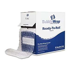 Quality Park Sealed Air Bubble Wrap in a Ready to Roll Dispenser Carton, 12 Inches x 100 feet (SEL48561)