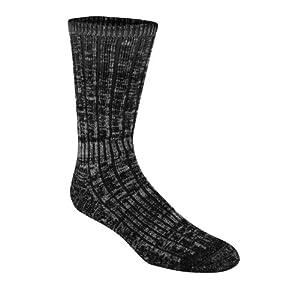 Wigwam Men's Merino Hiker Socks, Black, Large