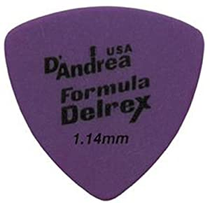D'Andrea TD346 1.14XH Formula Delrex Guitar Picks, 12-Piece, Purple, 1.14 Extra Heavy