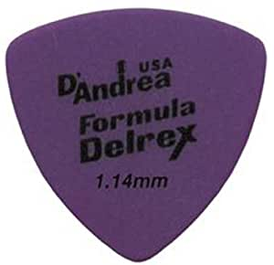 D'Andrea TD346 1.14XH Formula Delrex Guitar Picks, 12-Piece, Purple, 1.14 Extra Heavy