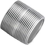 Aluminum Pipe Fitting, Nipple, Schedule 40, NPT Male