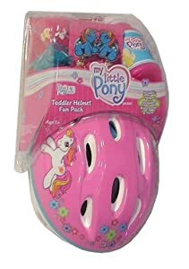 My Little Pony Toddler Bicycle Helmet, Horn, Streamers, and Water Bottle Fun Pack