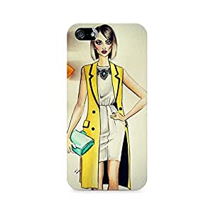 Mobicture Girl Abstract Premium Designer Mobile Back Case Cover For Apple iPhone 5/5s