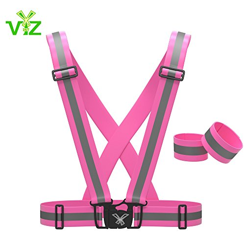reflective-vest-with-set-of-hi-vis-arm-leg-bands-fully-adjustable-womens-running-cycling-gear-motorc