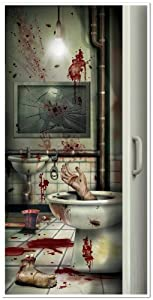 Beistle Company Mens Halloween Creepy Crapper Restroom Door Cover from Beistle Company