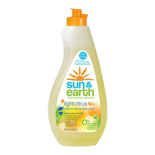 Sun and Earth Xtra Concentrated Dishwashing Liquid,Light Citrus Scent  22 Ounce (Packaging May Vary) (Hypoallergenic Dishwashing Liquid compare prices)