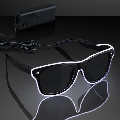 El Wire White Neon Sunglasses