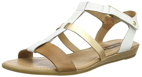 PikolinosALCUDIA 816_V16 - Sandali da donna, colore multicolore (white/gold), taglia 41 EU (7 UK)