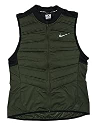 Nike Mens Aeroloft 800 Running Vest Down Fill (Large, Cargo Khaki)