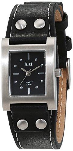 Just Watches 48-S3929-BK - Orologio da polso da donna, cinturino in pelle colore nero