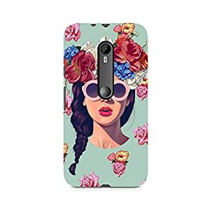 Ebby Floral Girl Premium Printed Case For Moto X Style