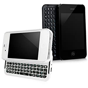 BoxWave Keyboard Buddy iPhone 4/4S Case - Backlit Edition - Bluetooth Keyboard Case with Integrated Apple Commands and Backlit Keys for Apple iPhone 4/4S (Jet Black)