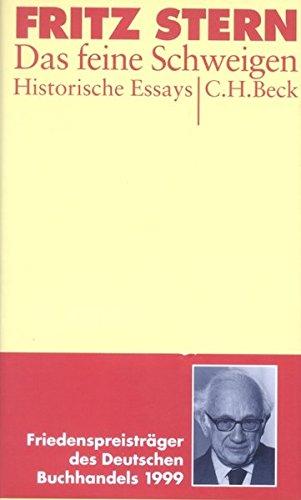 das-feine-schweigen-historische-essays