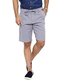 Showoff Men's Grey Solid Chino Shorts