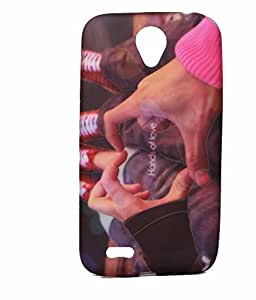 Hands Of Love Exclusive Rubberised Back Case Cover For Lenovo A859