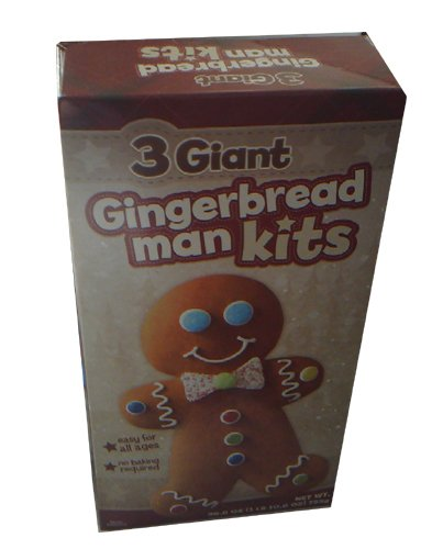 Giant Gingerbread Man Kits Christmas Holiday Gift Pack of 3