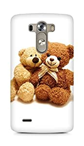 Amez designer printed 3d premium high quality back case cover for LG G3 (I Love You Teddy Bear)