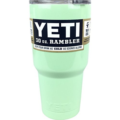 Custom Colored 30 Oz Yeti. New! Painted Rambler. Black, Teal, White, or Pink. Limited QTY (Mint)