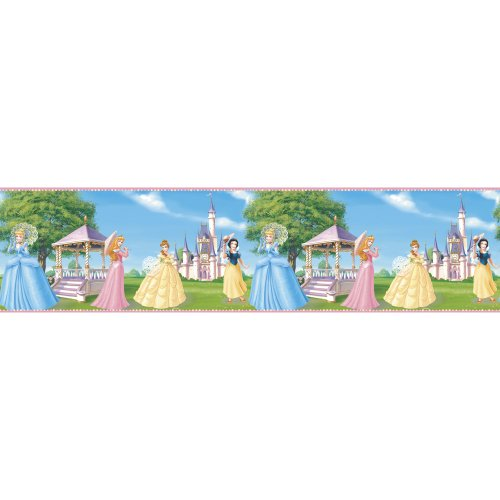 Blue Mountain Wallcoverings DS026241 Fantasy Princess Self-Stick Wall Border, 5-Inch by 15-Foot - 1