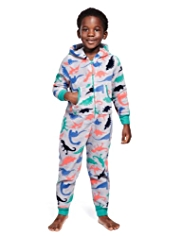 Hooded Soft & Cosy All-Over Dinosaur Onesie