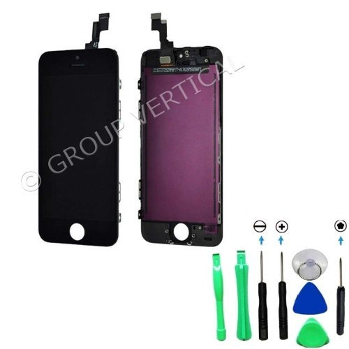 Black Lcd Touch Digitizer Screen Assembly For Iphone 5C