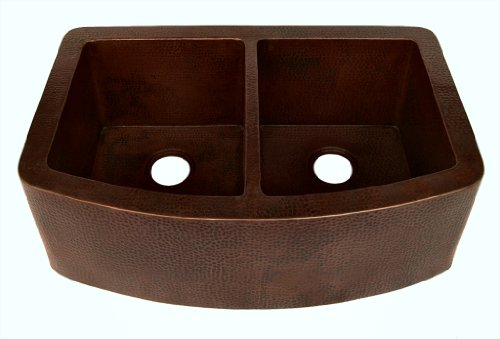 CURVED APRON FRONT KITCHEN COPPER SINK 33
