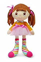 Kids Preferred Socks Rock Doll, Brunette Hair