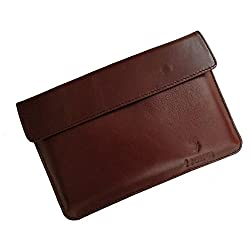 i-KitPit : Genuine Leather Pouch Case For Huawei Mediapad (BROWN)