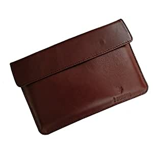 i-KitPit : Genuine Leather Pouch Case For Karbonn A34 HD Star (BROWN)
