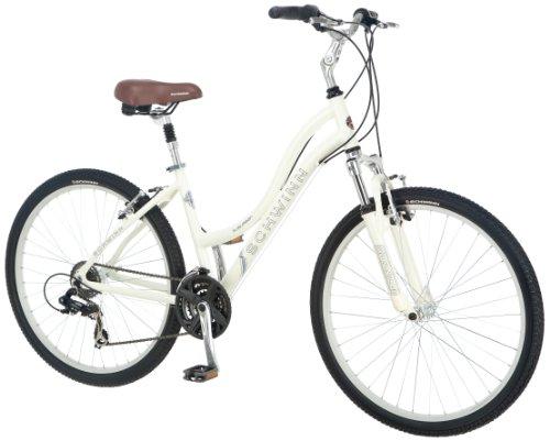Schwinn Women's Suburban CS Comfort Bike, 26-Inch, Cream/Tan