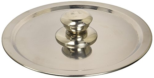 Ipac - Coperchio pentole universale con pomello, 18 cm, in acciaio INOX