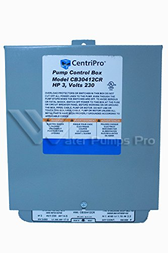 Cb30412Cr Centripro Submersible Pump Control Box 3 Hp 230 V Goulds