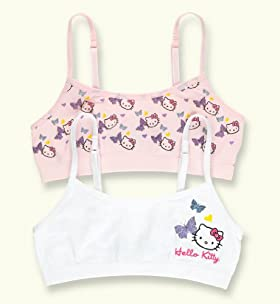 2 Pack - Older Girls' Hello Kitty Butterfly Seamfree Crop Tops