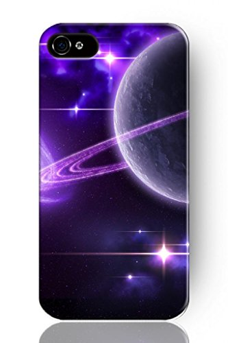 Sprawl New Fashion Design Hard Skin Case Cover Shell For Mobile Phone Apple Iphone 4 4S 4G--Sparkling Purple Planet In Space front-1048350