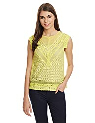 Park Avenue Womens Tunic Vest Top (PWAZ00621-Y1_Light Yellow_S)
