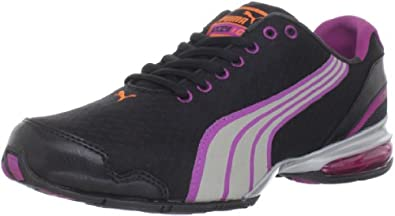 Puma Women's Cell Oliz Running Shoe,Black/Silver/Aster/Carrot,6.5 B US