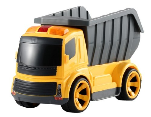 BigSmile RC Cartoon Toy Truck with Sound (Yellow), Remote Controlled Vehicles
