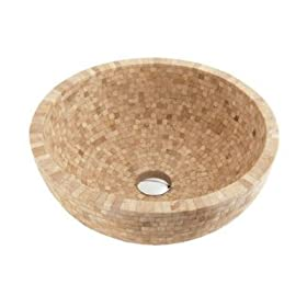 Fontaine Mosaic Travertine Bathroom Vessel Sink - FSA-020Msm