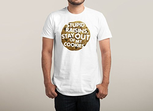 food-cool-cookie-stupid-raisins-stay-out-of-my-cookies-funny-exclusive-quality-t-shirt-for-herren-xs