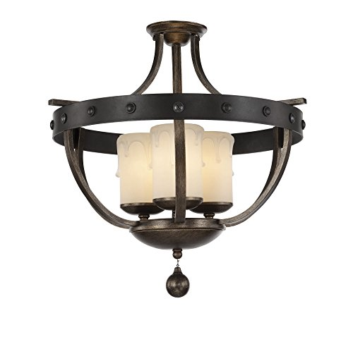 Savoy House 6-9545-3-196 Alsace 3-Light Semi Flush (Savoy House Alsace compare prices)