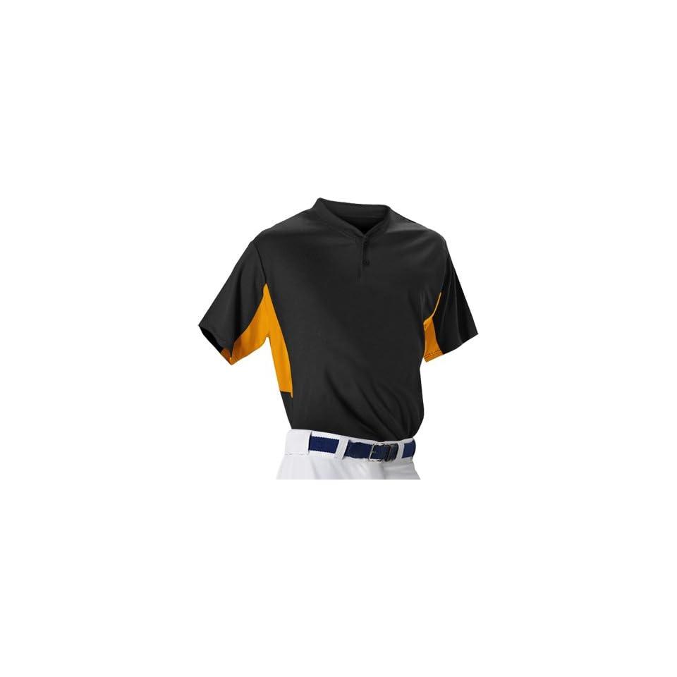 4c05b0e55 Alleson Athletic Boys 506Hcy Two Button Baseball Jerseys X Large Black /Orange